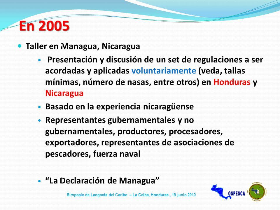 En 2005 Taller en Managua, Nicaragua