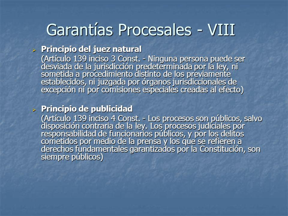 Garantías Procesales - VIII