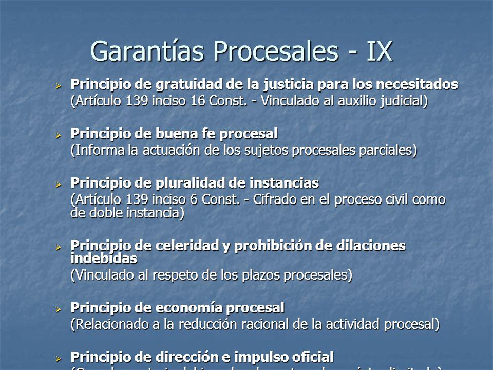 Garantías Procesales - IX