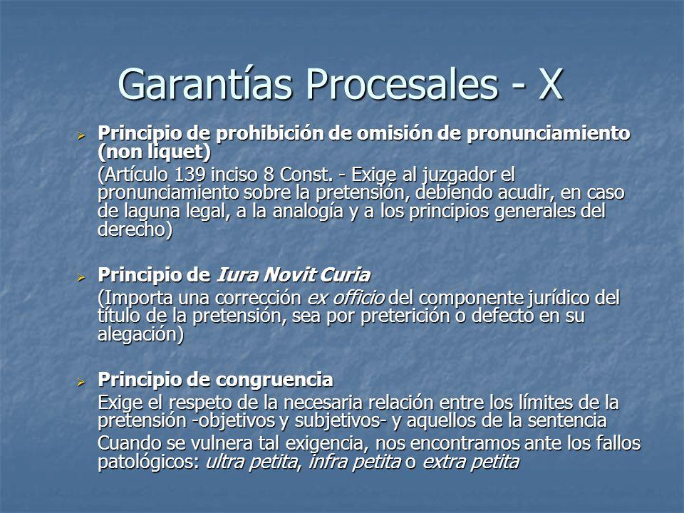 Garantías Procesales - X