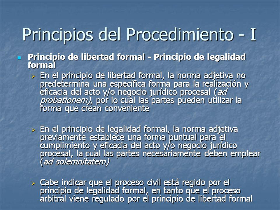 Principios del Procedimiento - I