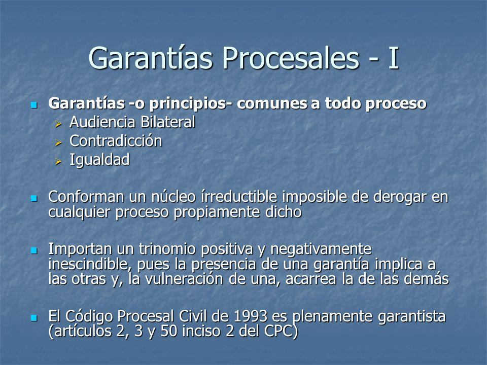 Garantías Procesales - I