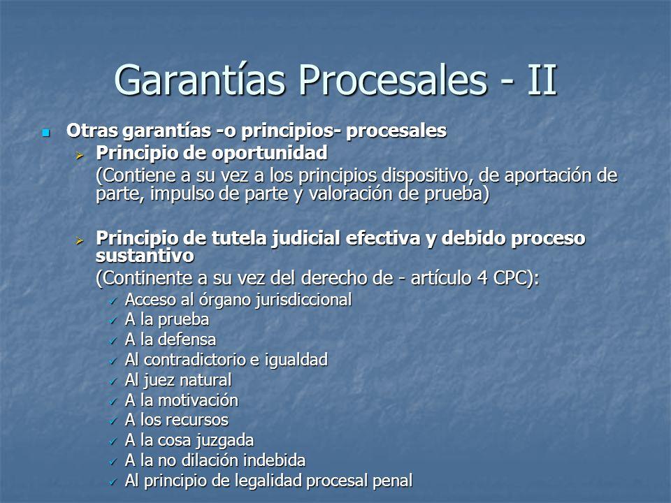 Garantías Procesales - II