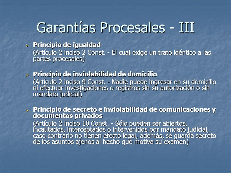 Garantías Procesales - III