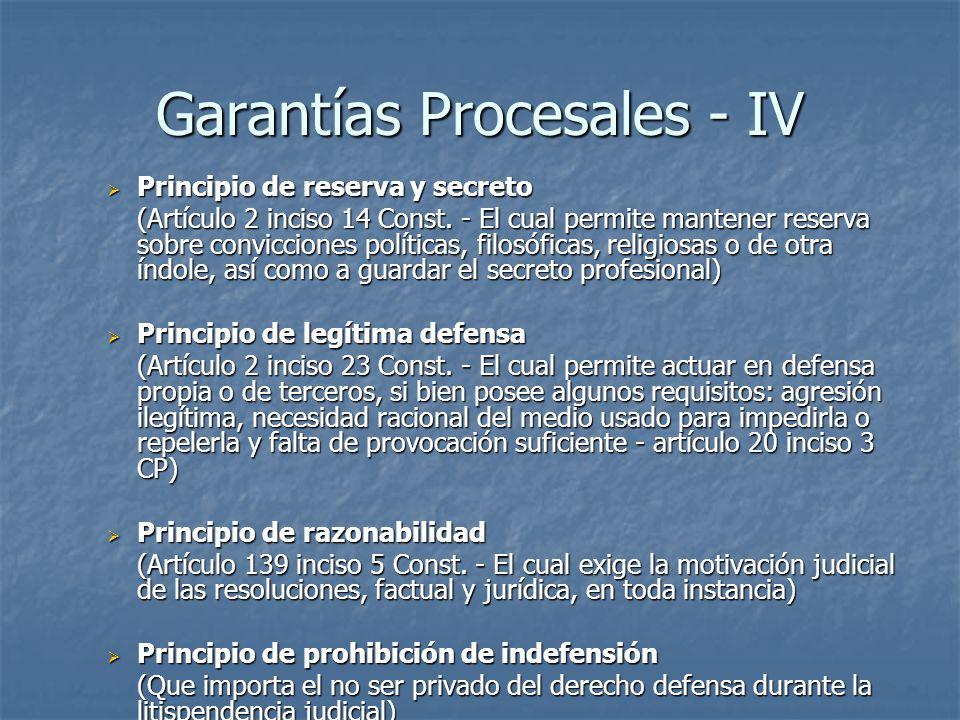Garantías Procesales - IV