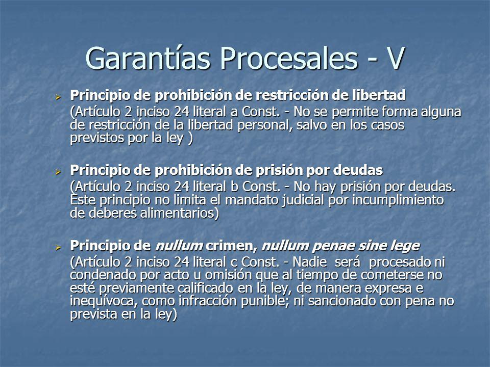 Garantías Procesales - V