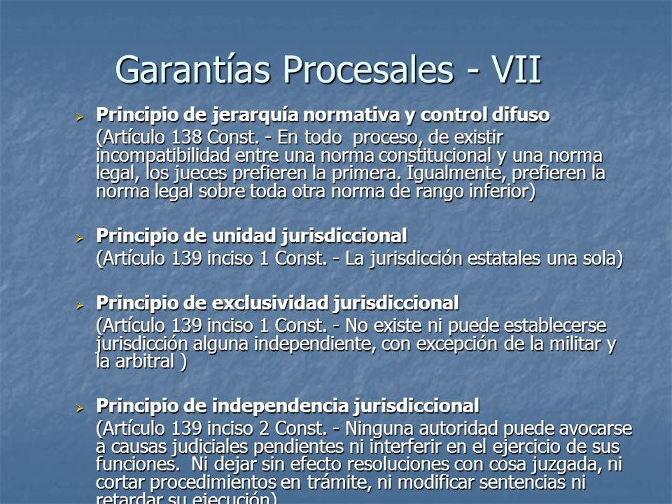 Garantías Procesales - VII
