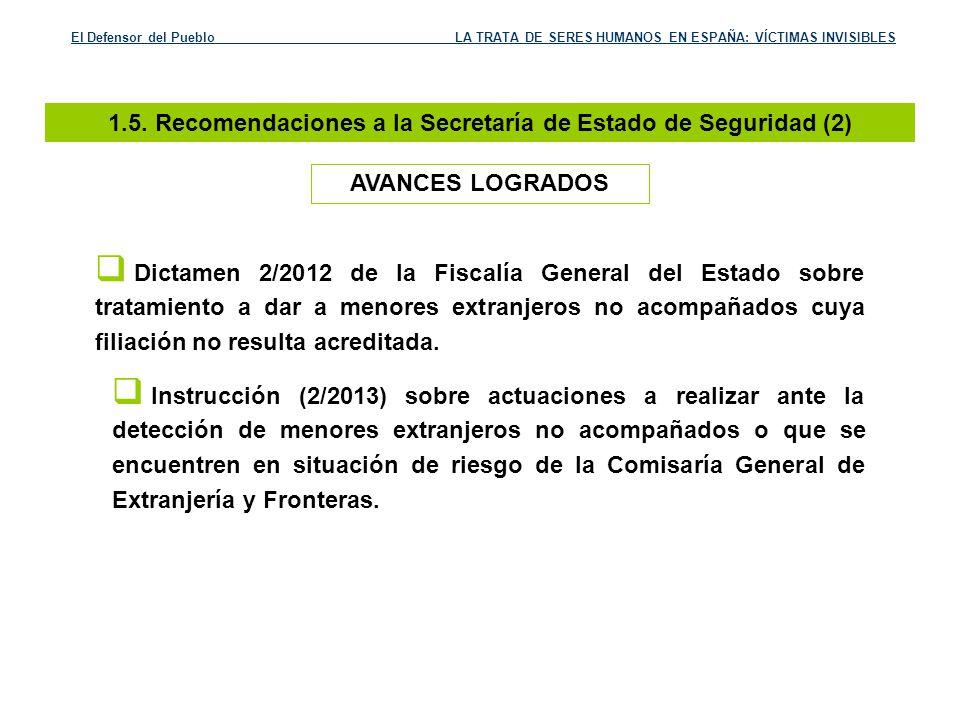 1.5. Recomendaciones a la Secretaría de Estado de Seguridad (2)