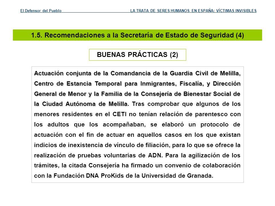 1.5. Recomendaciones a la Secretaría de Estado de Seguridad (4)