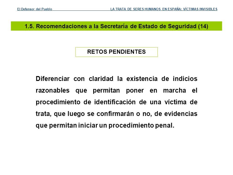 1.5. Recomendaciones a la Secretaría de Estado de Seguridad (14)