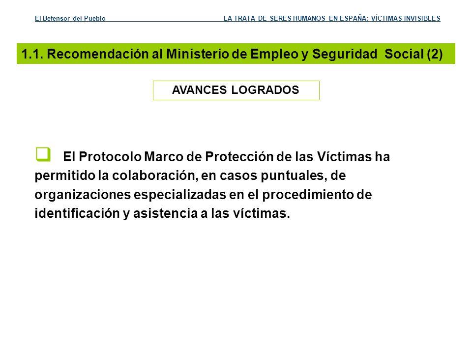 1.1. Recomendación al Ministerio de Empleo y Seguridad Social (2)