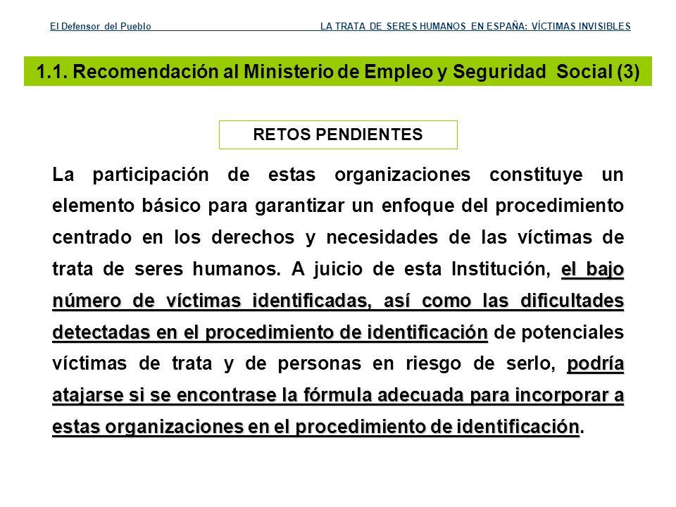 1.1. Recomendación al Ministerio de Empleo y Seguridad Social (3)
