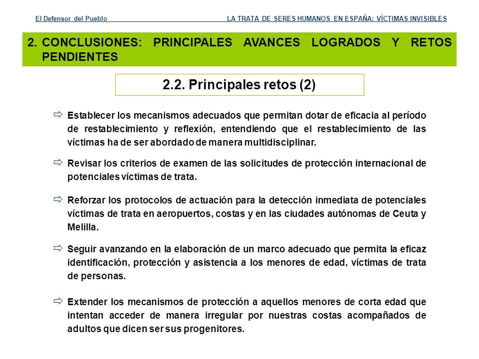 El Defensor del Pueblo LA TRATA DE SERES HUMANOS EN ESPAÑA: VÍCTIMAS INVISIBLES