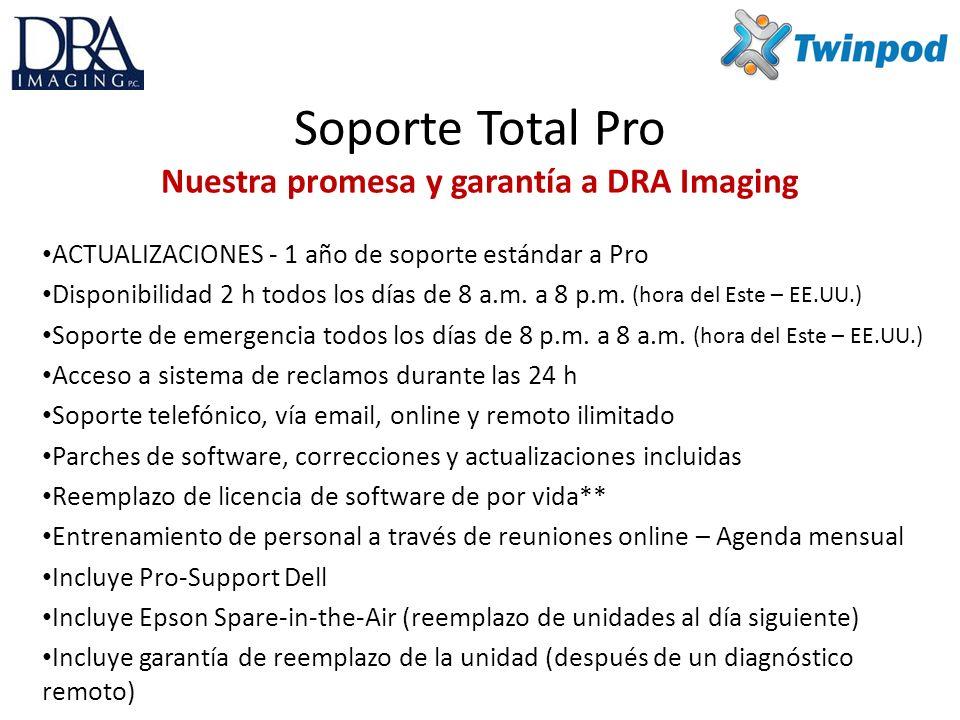Soporte Total Pro Nuestra promesa y garantía a DRA Imaging