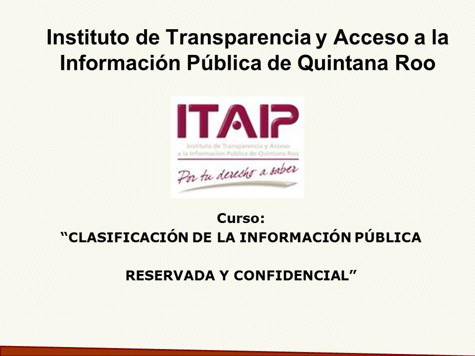 CLASIFICACIÓN DE LA INFORMACIÓN PÚBLICA RESERVADA Y CONFIDENCIAL