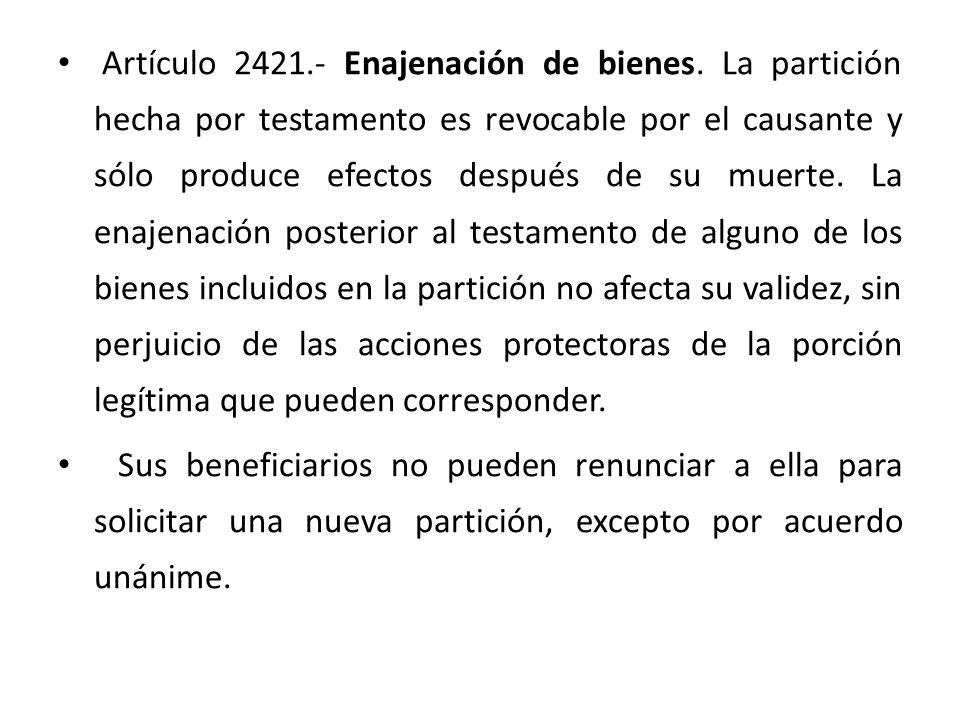 Artículo 2421. - Enajenación de bienes