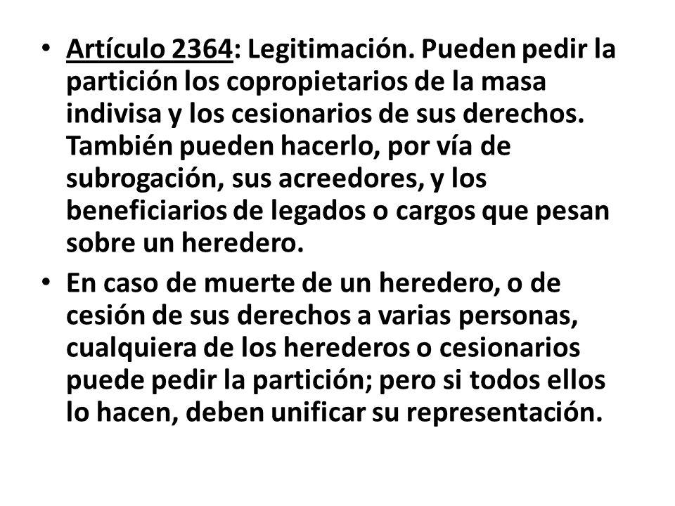 Artículo 2364: Legitimación