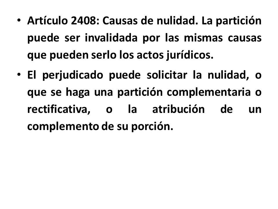 Artículo 2408: Causas de nulidad