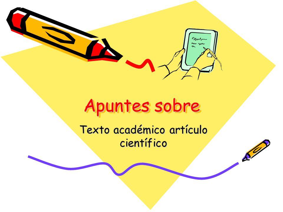 Texto académico artículo científico