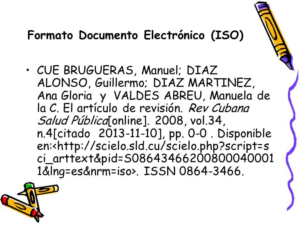 Formato Documento Electrónico (ISO)