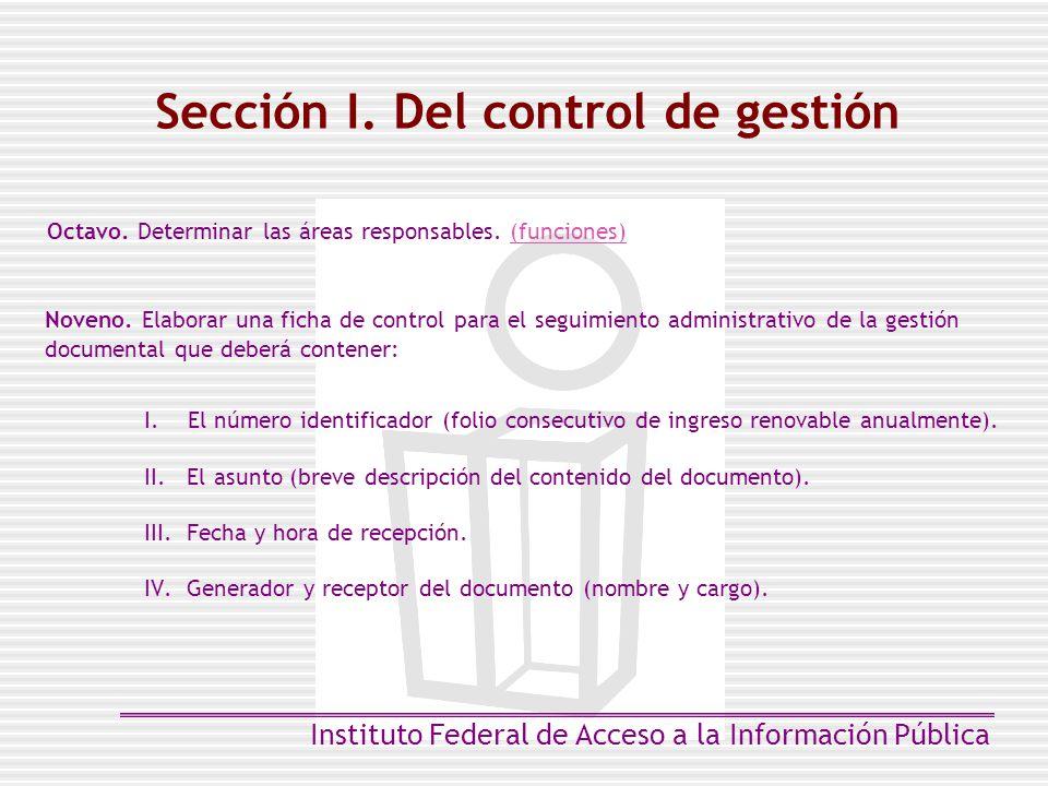 Sección I. Del control de gestión
