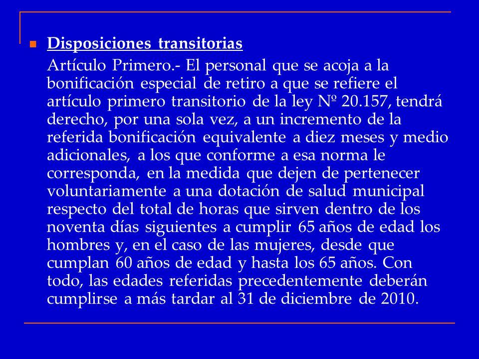 Disposiciones transitorias