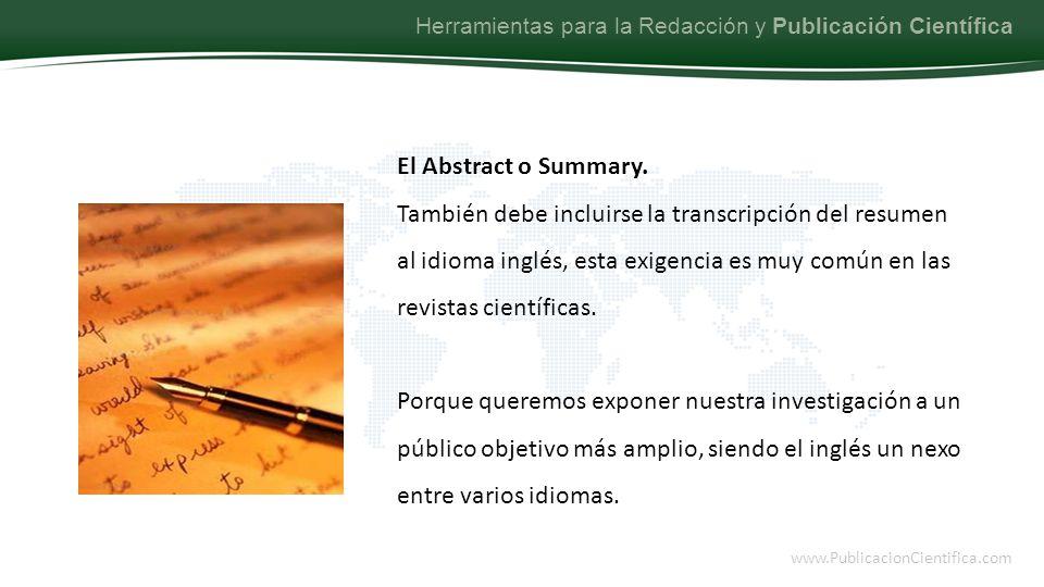 Herramientas para la Redacción y Publicación Científica