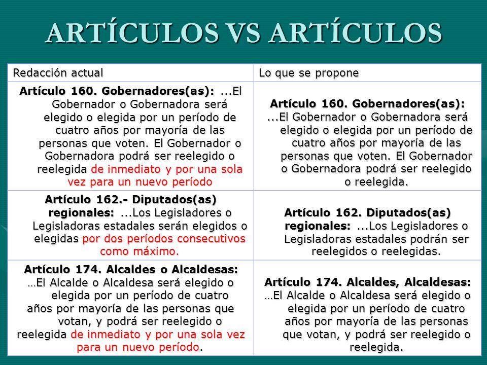 ARTÍCULOS VS ARTÍCULOS