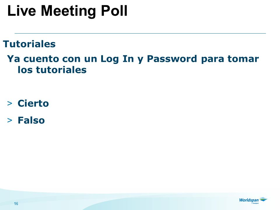 Live Meeting Poll Tutoriales
