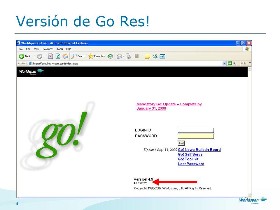 Versión de Go Res!