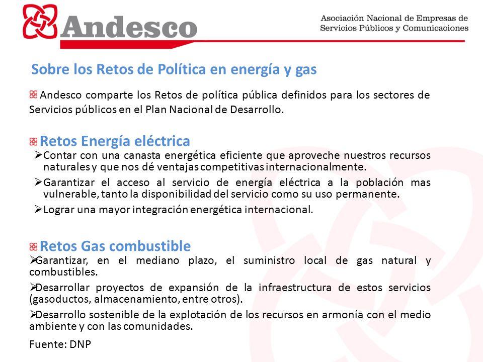 Sobre los Retos de Política en energía y gas