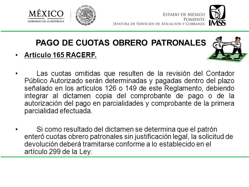 PAGO DE CUOTAS OBRERO PATRONALES