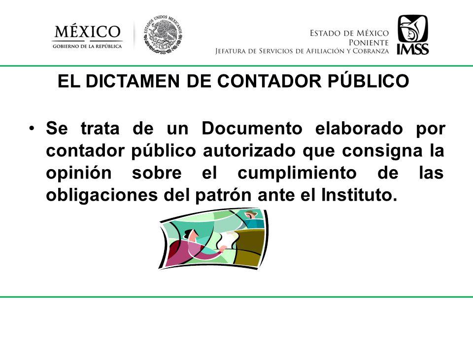 EL DICTAMEN DE CONTADOR PÚBLICO