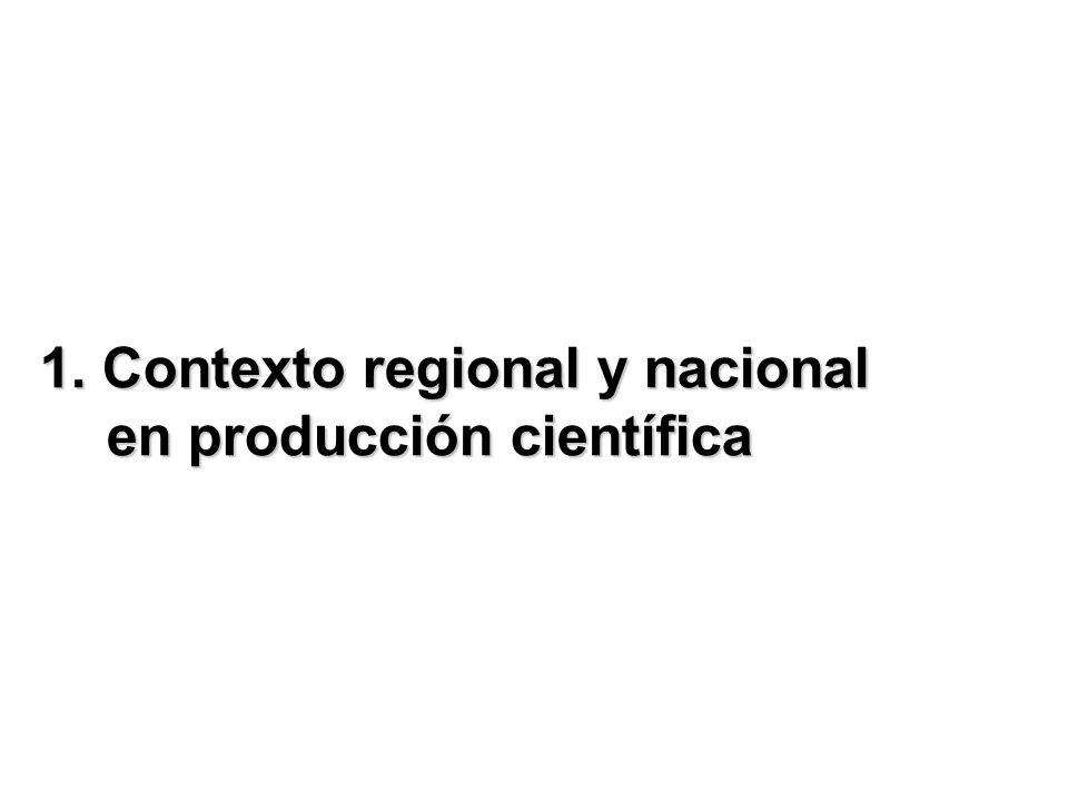 1. Contexto regional y nacional en producción científica