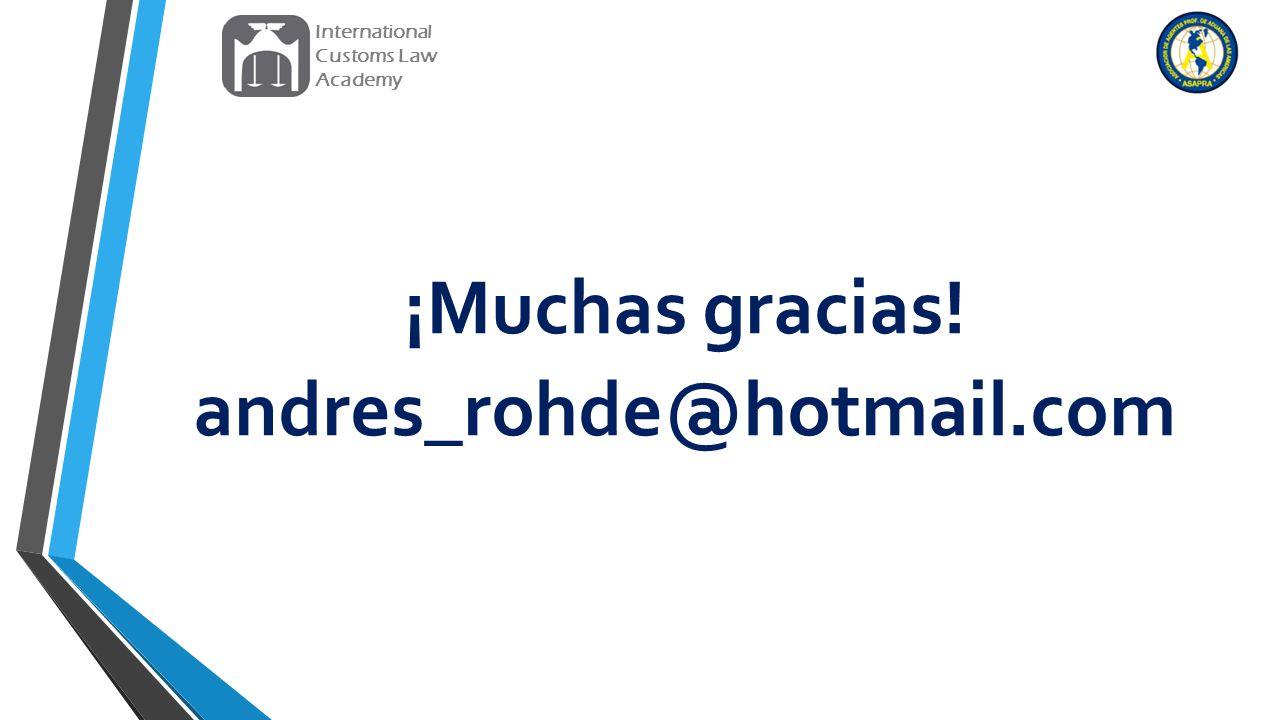¡Muchas gracias! andres_rohde@hotmail.com