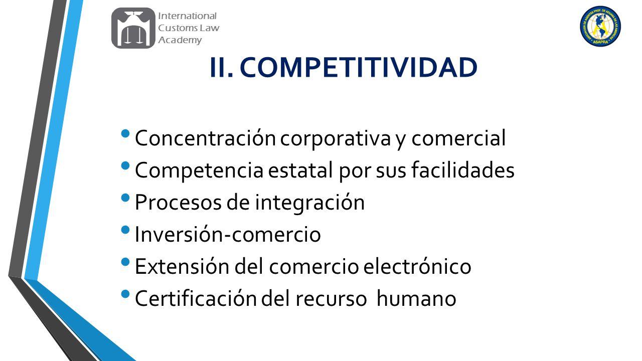 II. COMPETITIVIDAD Concentración corporativa y comercial