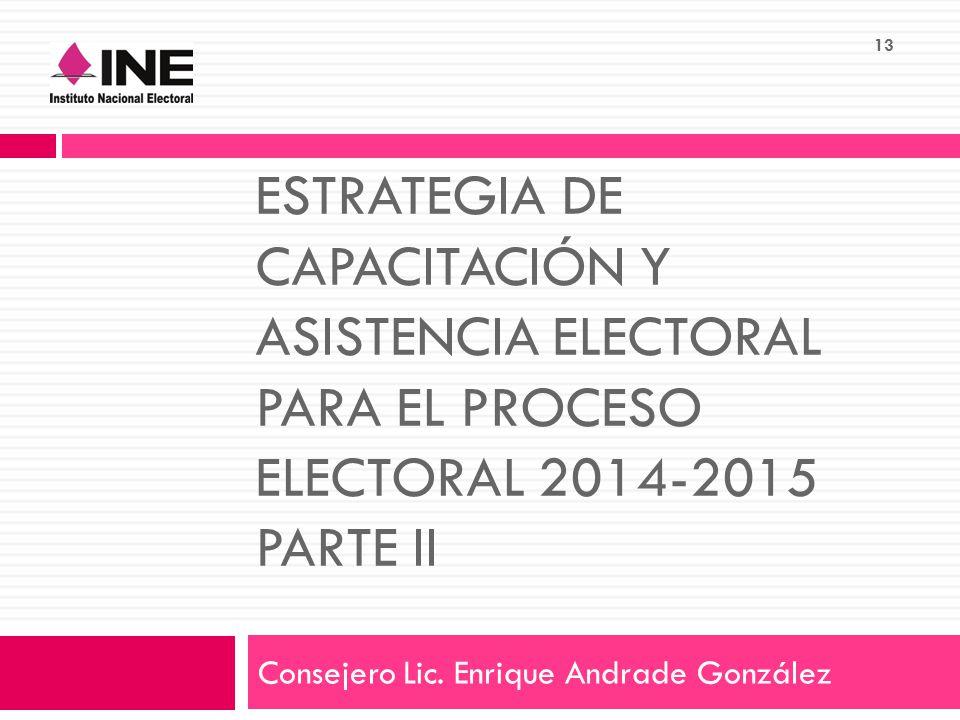 Consejero Lic. Enrique Andrade González