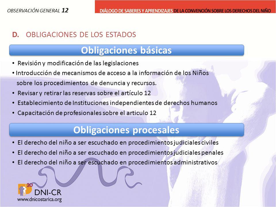 Obligaciones procesales