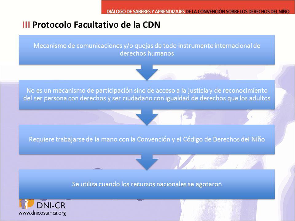 III Protocolo Facultativo de la CDN