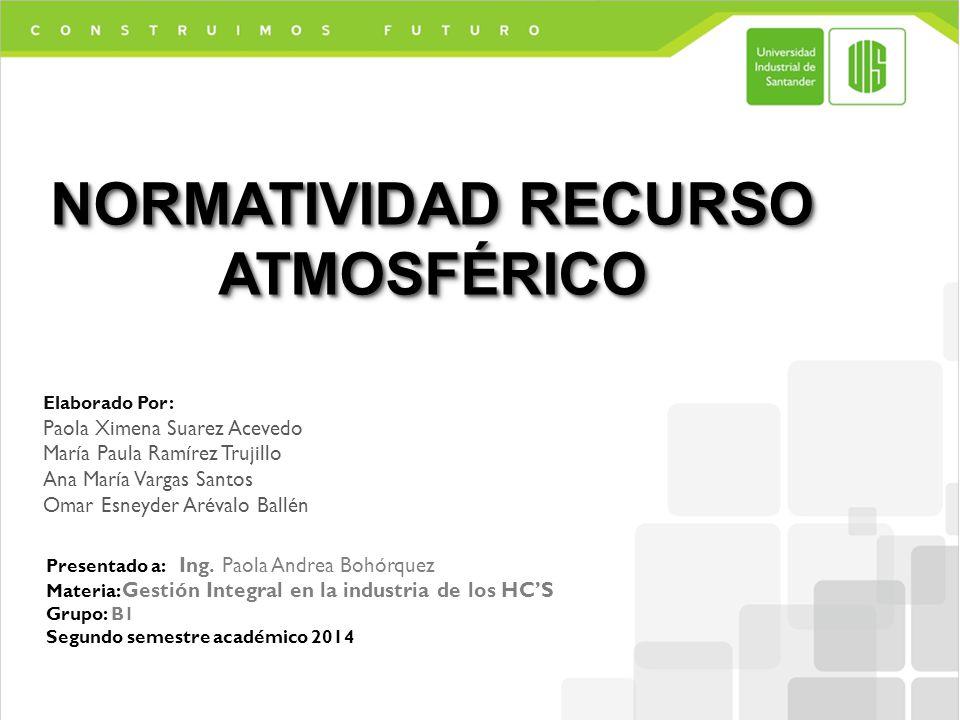 NORMATIVIDAD RECURSO ATMOSFÉRICO