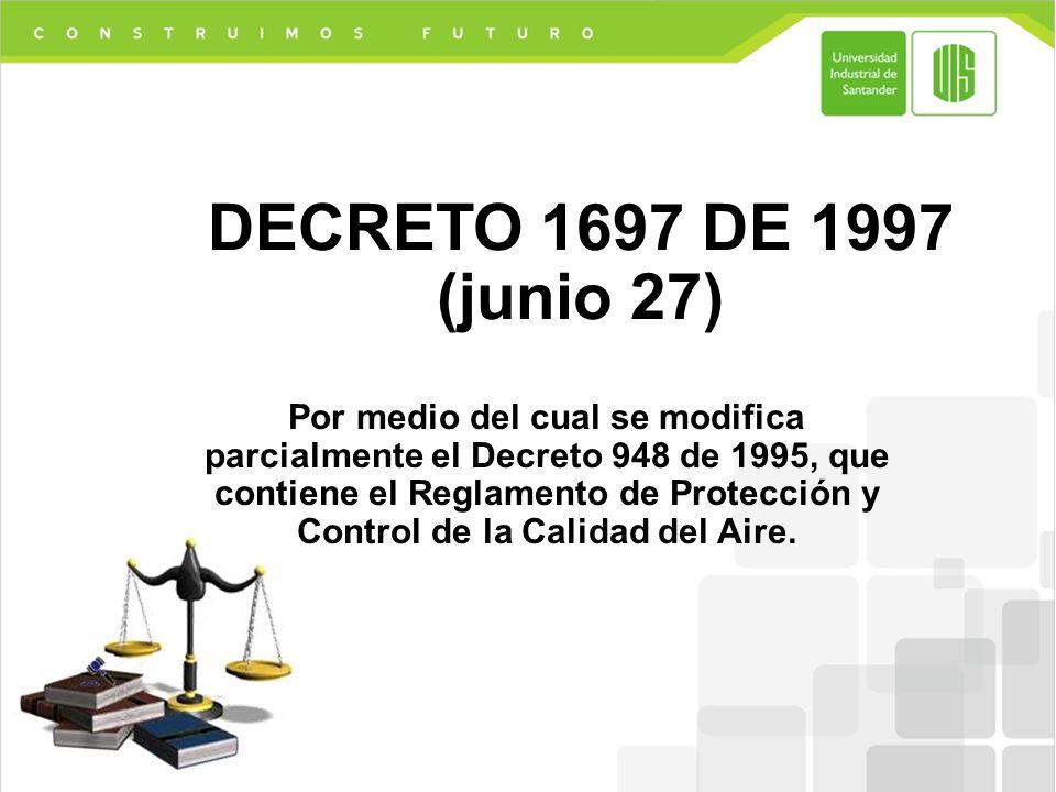DECRETO 1697 DE 1997 (junio 27)