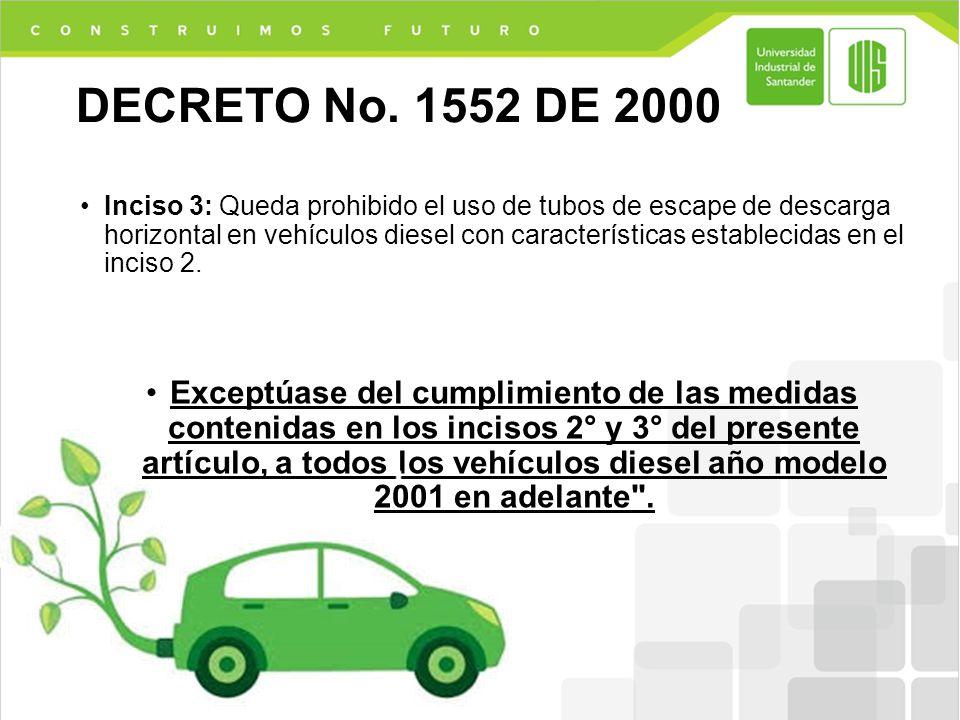 DECRETO No. 1552 DE 2000