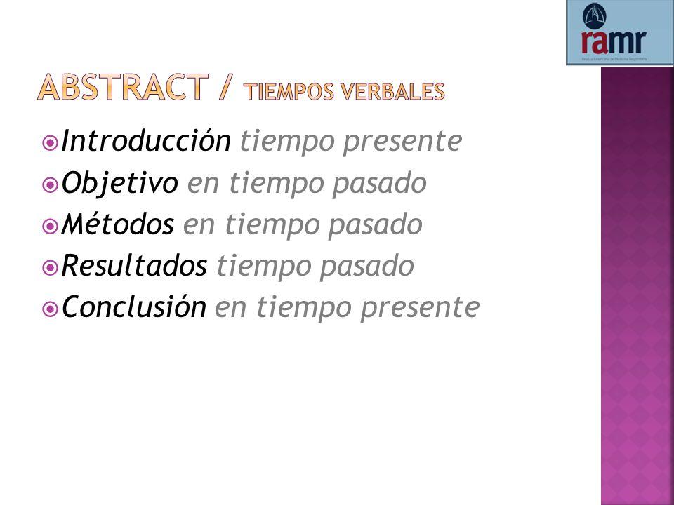 Abstract / tiempos verbales