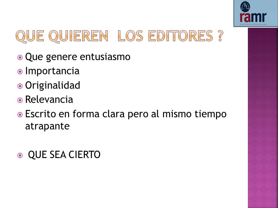 Que quieren los editores