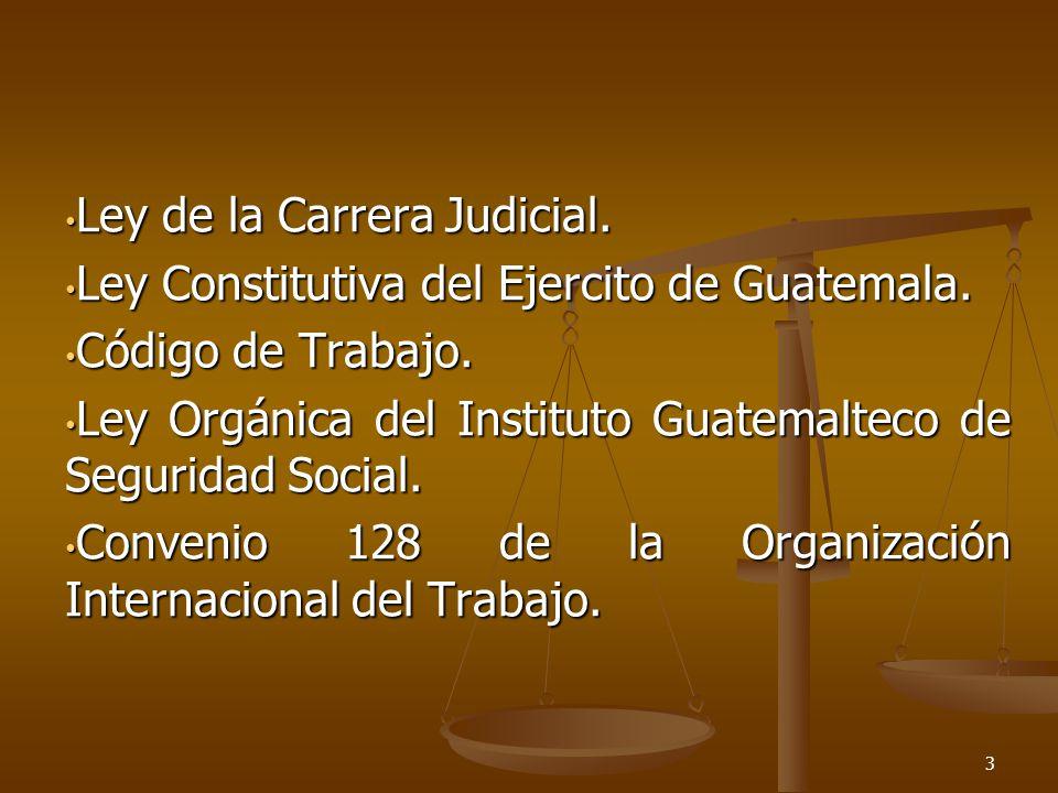Ley de la Carrera Judicial.