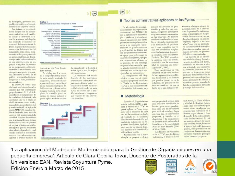 'La aplicación del Modelo de Modernización para la Gestión de Organizaciones en una