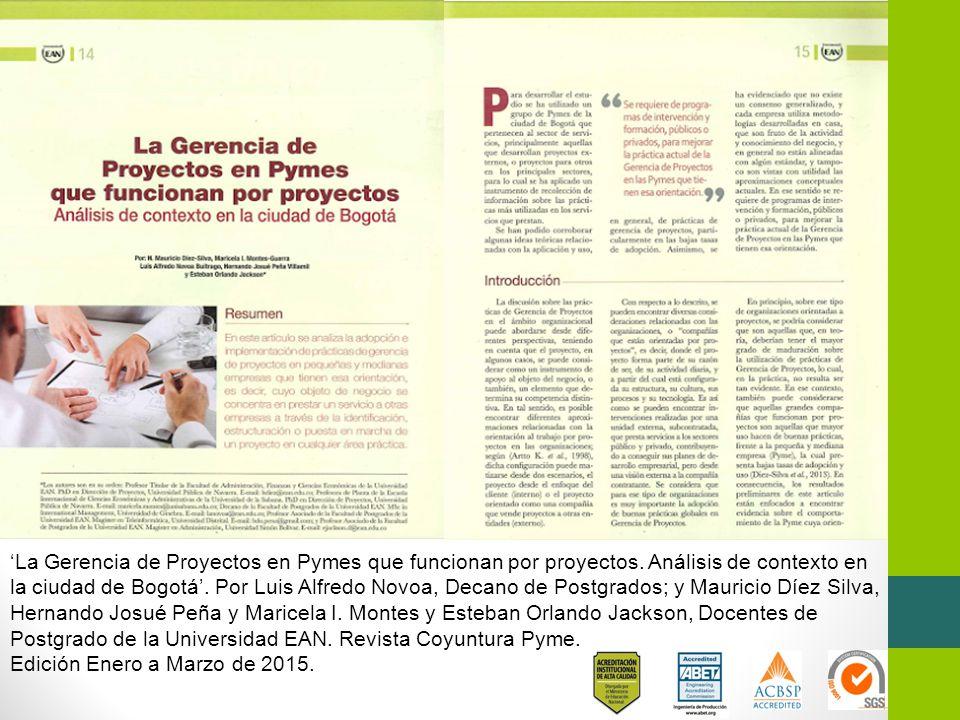 'La Gerencia de Proyectos en Pymes que funcionan por proyectos