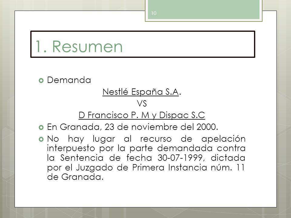 D Francisco P. M y Dispac S.C