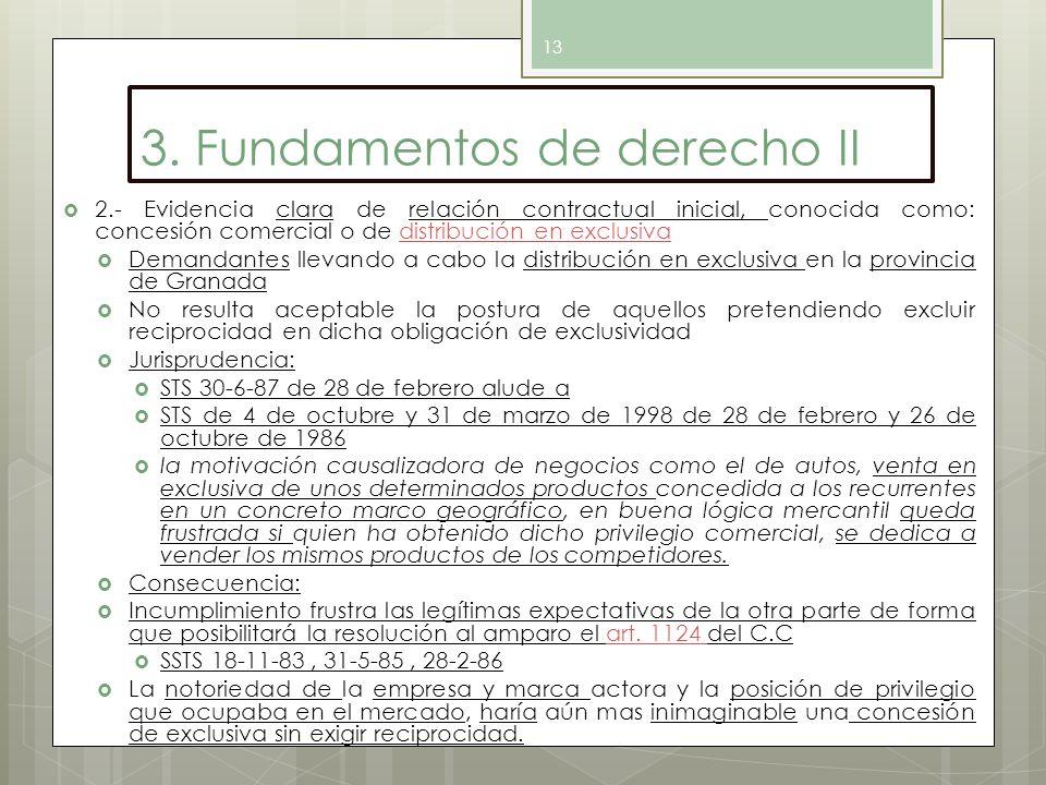 3. Fundamentos de derecho II