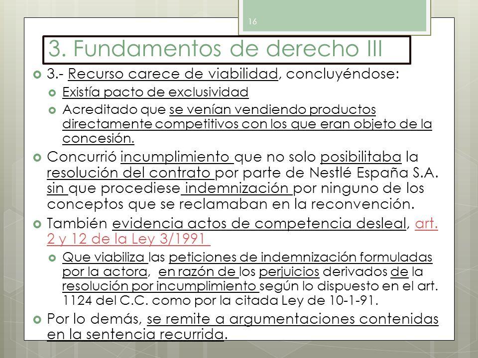 3. Fundamentos de derecho III